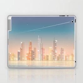 City skyline at night Laptop & iPad Skin