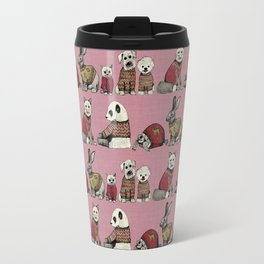 vintage chums pink Travel Mug