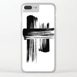 Brush stroke Clear iPhone Case