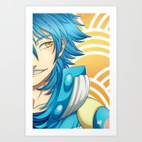 dramatical murder Art Prints featuring DRAMAtical Murder: Aoba by Chibs