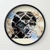 jack nicholson Wall Clocks featuring Jack Nicholson by ARTito
