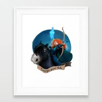 merida Framed Art Prints featuring Merida by Fla'Fla'