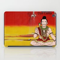 lama iPad Cases featuring Dalí lama by Michelena