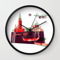 venice Wall Clocks featuring Venice by Claudia Voglhuber