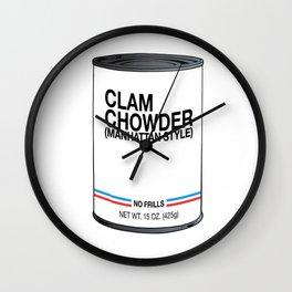 01 Clam Chowder Wall Clock