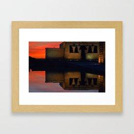 The mirror temple Framed Art Print