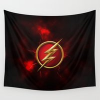 flash Wall Tapestries featuring FLASH - FLASH by albert Junior