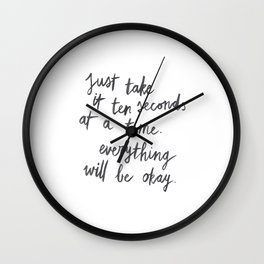 Ten Seconds At A Time Wall Clock