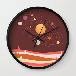 Abstraction Landscape 4 Universe Solar Wall Clock