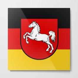 Flag of Niedersachsen (Lower Saxony) Metal Print
