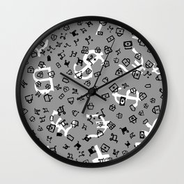 pattern with currency Wall Clock