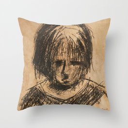 sad girl Throw Pillow