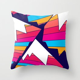 Mountains of many colours Throw Pillow