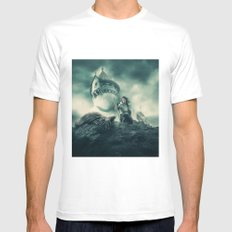 The Night's Watch White MEDIUM Mens Fitted Tee