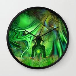 Heart Chakra Energy. Wall Clock