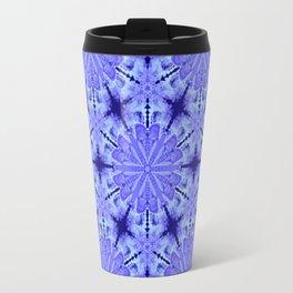 Christmas Blue Night Snowflake Pattern Travel Mug