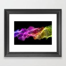 Rainbow satin Framed Art Print