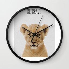Lion Cub Print, Safari Nursery Decor, Baby Animal, Kids Art print, Modern Nursery Wall Clock