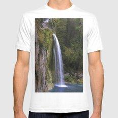 waterfall2 MEDIUM Mens Fitted Tee White