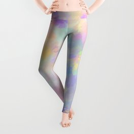 Secret Garden Colorful Abstract Impressionist Painting Leggings