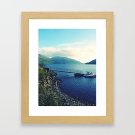 Loch Lomond Shore Framed Art Print