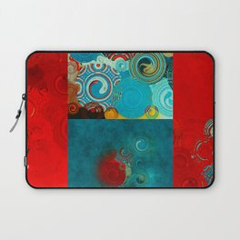 Teal and Red Swirls Laptop Sleeve