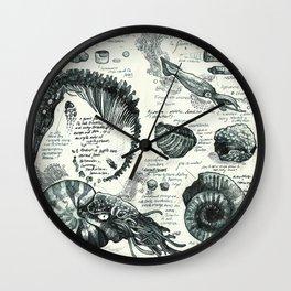 Sketchbook - Fossils Wall Clock
