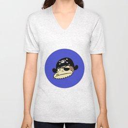 Blue Pirate Ape Unisex V-Neck