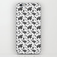 vintage floral iPhone & iPod Skins featuring VINTAGE FLORAL by Kiley Victoria