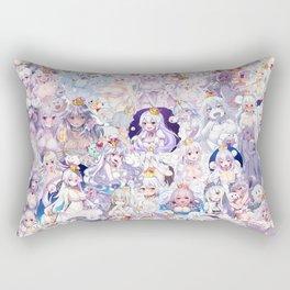 Booette Manga Anime Girls Collage in Colour Rectangular Pillow