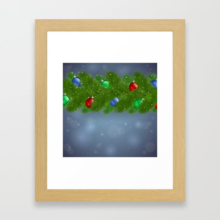 Christmas background Framed Art Print