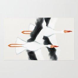 Storks in Flight Rug