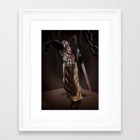 silent hill Framed Art Prints featuring Pyramid Head - Silent Hill by JonnyHinkleArt