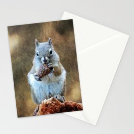 Squirrel with a Pine Cone Stationery Cards