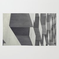 andreas preis Area & Throw Rugs featuring Blocks by Andreas Lie