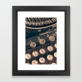 Vintage Typewriter - Macro Photography #Society6 Framed Art Print