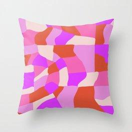 faye patchwork Throw Pillow