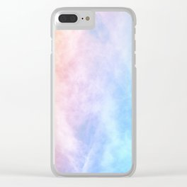Pink Cotton Candy Sky Clear iPhone Case