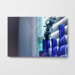 Blue Bottles - 2 Metal Print