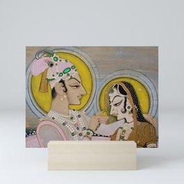 Radha, the Beloved of Krishna royal India portrait by Nihal Chandin in Rajput style  Mini Art Print
