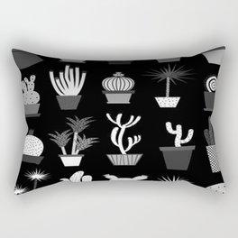 MIX SUCCULENTS2-B&W Rectangular Pillow