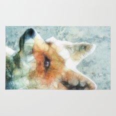 abstract fox Rug