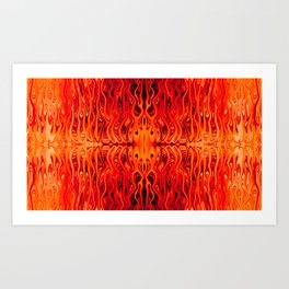 Lava Squid by Chris Sparks Art Print