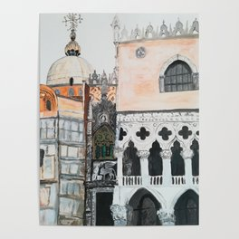 Venice architecture, Piazza San Marco, Dodge's Palace Poster