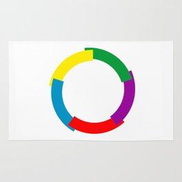 Flag of La Francophonie symbol french language speakers emblem Rug