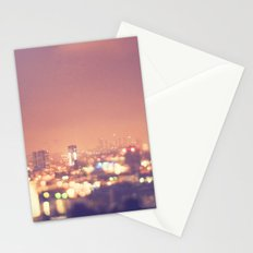 Everyone's a Star. Los Angeles skyline at night photograph. Stationery Cards