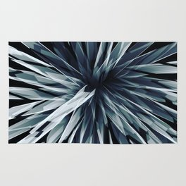 Perspective Facets-Retro Blue Rug