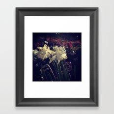 Water Droplets in Motion (Flowers) Framed Art Print