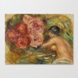 """Auguste Renoir """"Roses et Étude de Gabrielle"""" Canvas Print"""