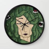 medusa Wall Clocks featuring Medusa by Tram